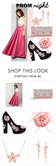 """""""Perfect in pink prom night"""" by mia-christine ❤ liked on Polyvore featuring Fame & Partners, Saks Fifth Avenue, Stephen Webster and PROMNIGHT"""