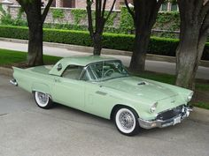 1957 Ford Thunderbird - Mint green. To die for!