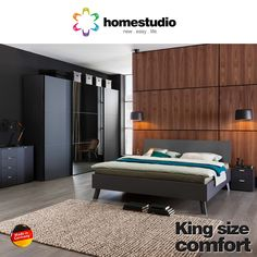 It's called king size for a reason. #Beds from #HomeStudio are crafted for beauty and comfort.  Visit - http://homestudio.com/bedroom-furniture/beds.html #Furniture #Comfort #Design #InteriorDesign