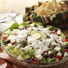 Gyro Salad with Tzatziki Dressing from Taste of Home