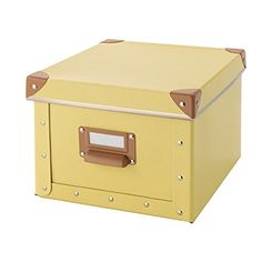 [Toy Storage Ideas] Fjalla Home Office Storage Box With Lid - Yellow * Learn more by visiting the image link. (This is an affiliate link) #ToyStorageIdeas