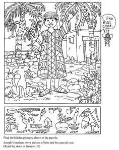 bible story hidden pictures printable - Google Search