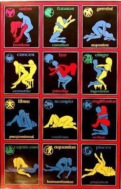 Zodiac sex positions Capricorn Aquarius Pisces Aries Taurus Gemini Cancer Leo Virgo Libra Scorpio Sagittarius