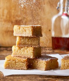 Nothing says fall like this gooey maple butter cake! This yummy fall cake gets its flavor from a dash of cinnamon and a generous drizzle of maple syrup. Raspberry Smoothie, Apple Smoothies, Fall Cakes, Pastry Blender, Savoury Cake, Let Them Eat Cake, Clean Eating Snacks, Fall Recipes, Cupcake Cakes