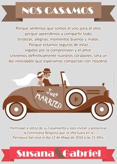 Vintage wedding invitations. Tarjetas invitaciones vintage para boda disponibles en http://www.elsurdelcielo.com