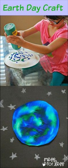 Earth Day Activity - using paint and a plate, kids create beautiful one of a kind earth prints. Earth Day Activity - using paint and a plate, kids create beautiful one of a kind earth prints. Earth Day Activities, Spring Activities, Preschool Activities, Space Activities, Earth Day Projects, Earth Day Crafts, Earth Craft, Spring Crafts, Holiday Crafts