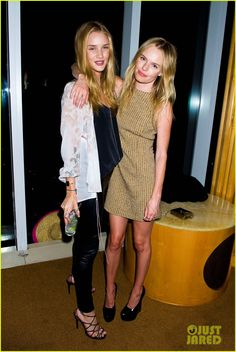Harry Josh's Hairball Party. Rosie Huntington-Whiteley with Kate Bosworth