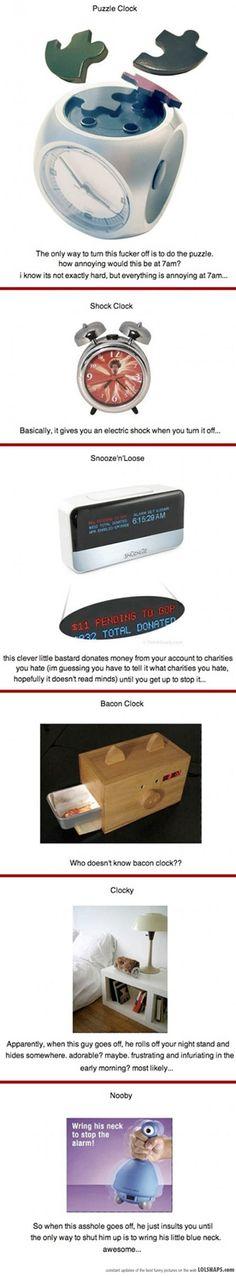 Awesome Alarm Clocks