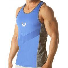 Junk Underjeans UJ Curl Tank Top Royal (T4573) Gym Wear, Workout Wear, Mens Fitness, Curls, Athletic Tank Tops, Tank Man, Stylish, Casual, Mens Tops