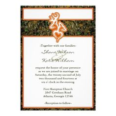 Hunting Camo Wedding Invitation  Keywords: #camoweddings #camoweddinginvitations #jevelweddingplanning Follow Us: www.jevelweddingplanning.com  www.facebook.com/jevelweddingplanning/