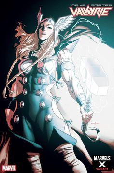 Jane Foster: Valkyrie Marvels X variant cover - Thor by Kris Anka * Marvel Comics Art, Marvel Comic Books, Disney Marvel, Comic Books Art, Marvel Avengers, Book Art, Jane Foster, Female Thor, Asgard
