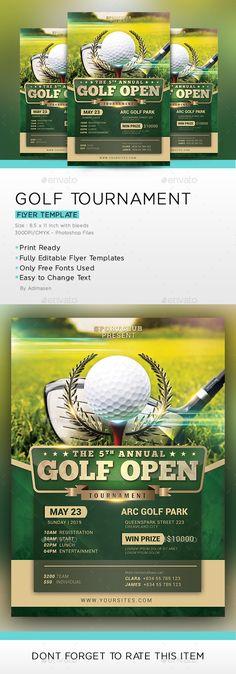 charity golf tournament flyer hd 2