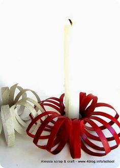 DIY Toilet Roll Christmas Candle Holder