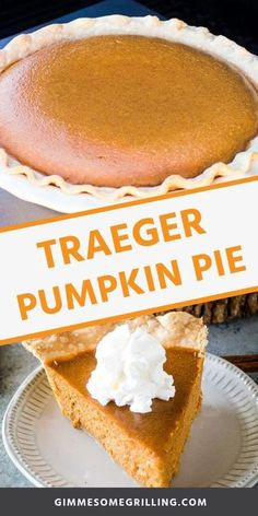 Pumpkin Pie that is smoked on your Traeger is quick, easy and delicious! This Traeger dessert recipe is perfect for serving to your family and friends at Thanksgiving. They will love a slice of smoked pumpkin pie! Pumpkin Pie Mix, Pumpkin Dessert, Traeger Recipes, Grilling Recipes, Traeger Smoker, Barbecue Recipes, Easy Holiday Desserts, Holiday Recipes, Autumn Desserts