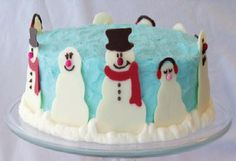 A cool snowman cake.