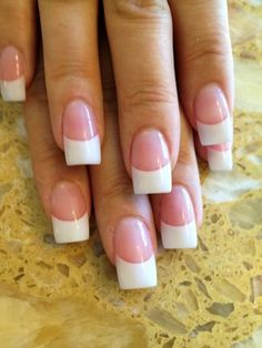 File U Fancy Nails photos Roxy's solar nails(pink&white). French Tip Acrylic Nails, White Tip Nails, French Manicure Nails, Square Acrylic Nails, Gel Nails, Fancy Nails, Love Nails, Pink Nails, Gorgeous Nails