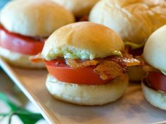 These little sandwiches will disappear fast--they are THAT good. Take advantage of fresh tomato season and try these sensational sliders.