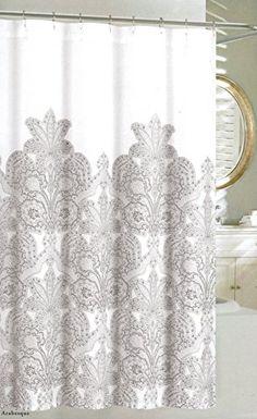 Tahari Luxurious Grey Amp White Damask Medallion Fabric