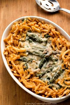 "Green Bean Casserole From Scratch - the healthiest way to make this creamy and delicious traditional dish. It's so easy - there is no reason not to make if from scratch! ""FUNERAL CASSEROLE"" is at every family holiday dinner Thanksgiving Casserole, Thanksgiving Recipes, Thanksgiving Feast, Hosting Thanksgiving, Vegetable Dishes, Vegetable Recipes, Side Dish Recipes, Dinner Recipes, Dinner Ideas"