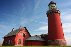 The lighthouse of Bovbjerg, Denmark