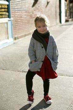 E quem disse que crianca nao tem estilo