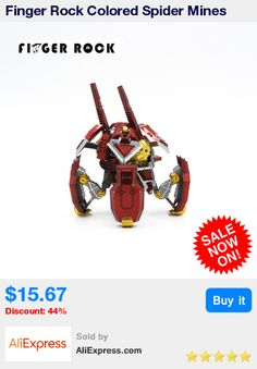 Finger Rock Colored Spider Mines Metal 3D Puzzle DIY Stainless Steel Model Children Laser Cutting Assembly Jigsaw Toys * Pub Date: 09:38 Jul 13 2017