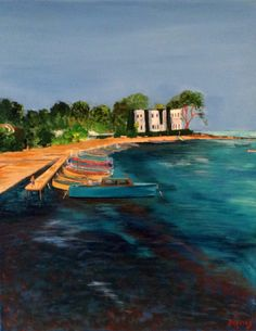 Port L'Olivette, Cap D'Antibes, France by Gerry Defries. Buy it now: http://www.artpal.com/collectableart