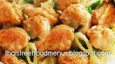fried food menu as Thai Two Color shrimp balls fried menu (Pad-look-chin-so., Thai fried food menu as Thai Two Color shrimp balls fried menu (Pad-look-chin-so. Thai Shrimp, Fried Shrimp, Traditional Thai Food, Thai Food Menu, Shrimp Balls, Thai Street Food, Be A Nice Human, Thai Recipes, Potato Salad