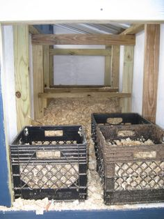 Milk crates for nest boxes!