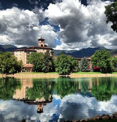 Broadmoor in Colorado. We stayed two night free for our Honeymoon in December 1974 because I was employed at the Brown Palace Hotel in Denver.