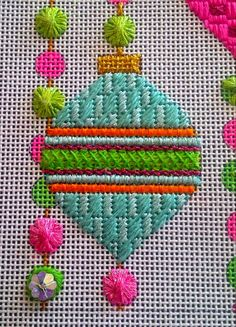 Hottest Images Needlepoint christmas Suggestions Needlepoint will be previously worked one particular sew at one time on even-weave canvas and it's Needlepoint Designs, Needlepoint Stitches, Needlepoint Canvases, Needlework, Cross Stitch Embroidery, Hand Embroidery, Tapestry Kits, Machine Embroidery Projects, Beaded Crafts