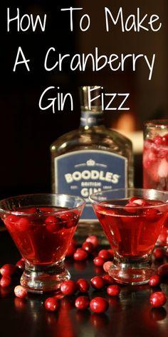 cranberry gin fizz cocktail recipe