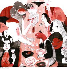 jessica's invite by the wonderful Jillian, Tamaki. Illustrations / Ilustraciones