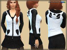 The Sims Resource: Sweatshirt Panda by Bukovka • Sims 4 Downloads