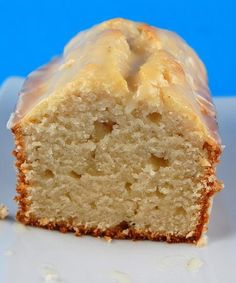 Vanilla yogurt cake with orange glaze. Takes greek yogurt and orange juice.