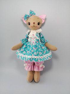 Stuffed decor animal Rag doll Soft cute decor toy Cat doll