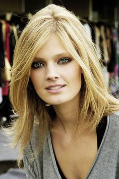 Beautiful girl with beautiful hair - color, cut and style. Constance Jablonski.