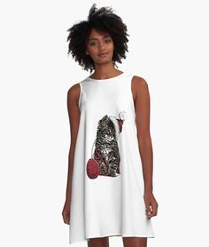 A-Line Dress Tee Shirts, Tees, Line, How To Make, How To Wear, Fabric, Stuff To Buy, Dresses, Design