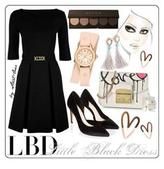 """""""LBD1"""" by start-over ❤ liked on Polyvore featuring Monsoon, Love Moschino, Furla and Michele"""