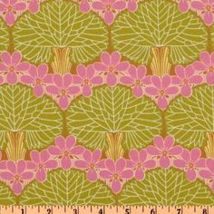 The Girls might like this one... Amy Butler Midwest Modern Nouveau Trees in Moss.