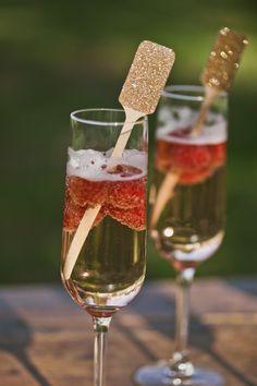 20 Gold Glitter Wedding Drink Stirrers, Rustic Wedding, Swizzle Stick, Stir Sticks