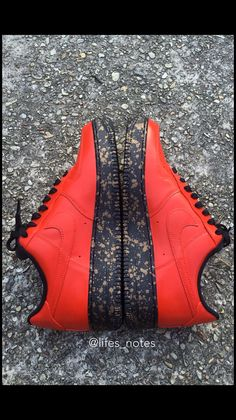 Custom Air Force 1 by on Etsy Red Sneakers, Custom Sneakers, Shoes Sneakers, Shoes Heels, Custom Jordan Shoes, Custom Shoes, Baskets, Kicks Shoes, Hype Shoes