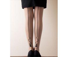 Cat strip tattoo tights cat stockings cat van Lovesweetbox op Etsy, $9.90