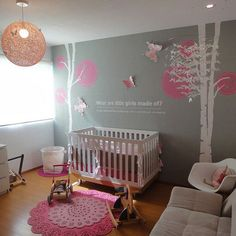 Pink And Grey Design Ideas, Pictures, Remodel, and Decor