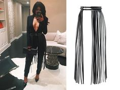 Shorter fringe on the belt would look awesome with a plain dress Diy Fashion, Autumn Fashion, Fashion Outfits, Womens Fashion, Fashion Design, Fringe Skirt, Leather And Lace, Diy Leather Fringe Belt, Skirt Outfits