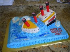 The Titanic Birthday Cake