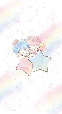 Sanrio Wallpaper, Star Wallpaper, Kawaii Wallpaper, Iphone Wallpaper, Sanrio Characters, Cute Characters, Little Twin Stars, Little Star, Japanese Cartoon