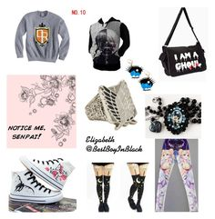 """""""Notice me senpai"""" by bestboyinblack ❤ liked on Polyvore featuring Hot Topic"""