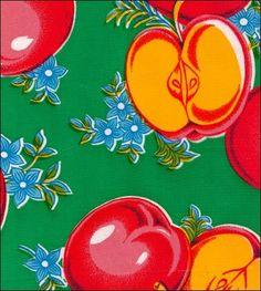 Apples Green Oilcloth