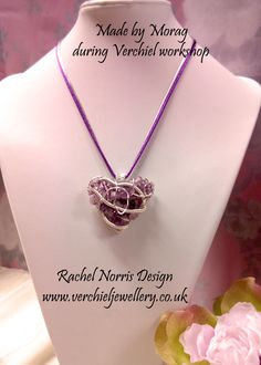 Made by Morag during Verchiel Workshop - Rachel Norris design Heart.  www.verchieljewellery.co.uk